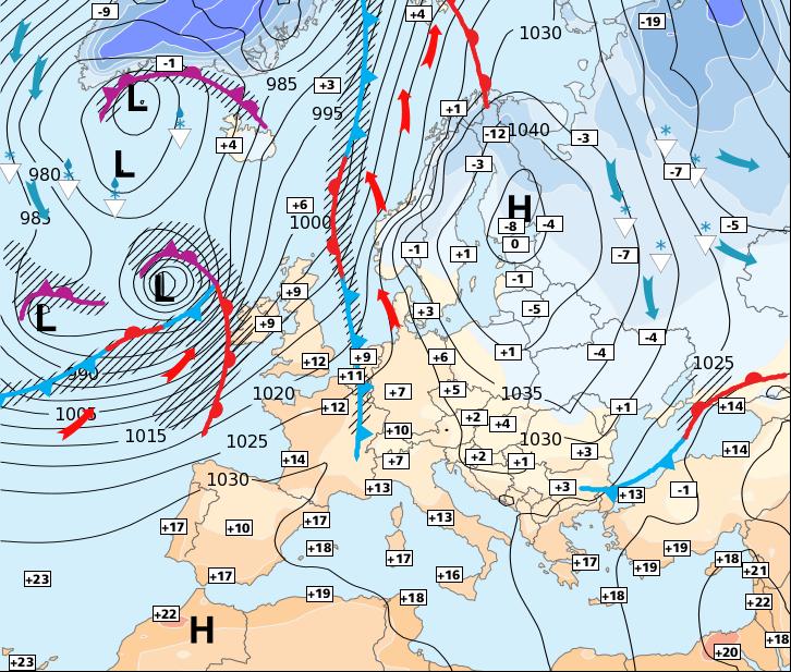 Image d'illustration pour Beaucoup de pluie et de vent à partir de ce week-end