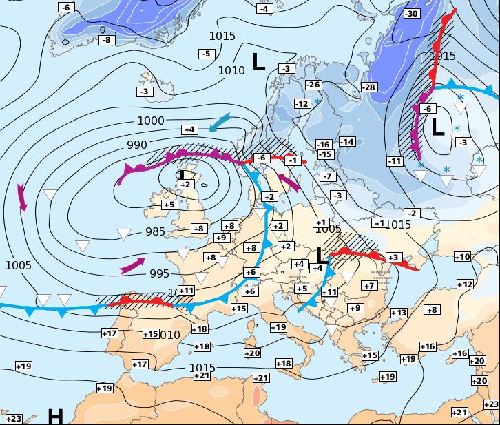 Image d'illustration pour Du vent, de fortes précipitations et des températures en baisse
