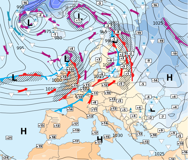 Image d'illustration pour Courant océanique, plus ou moins perturbé sur la moitié Nord