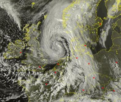 Image d'illustration pour Bilan de la tempête Jeanne en Bretagne, Normandie, Nord-Pas-de-Calais
