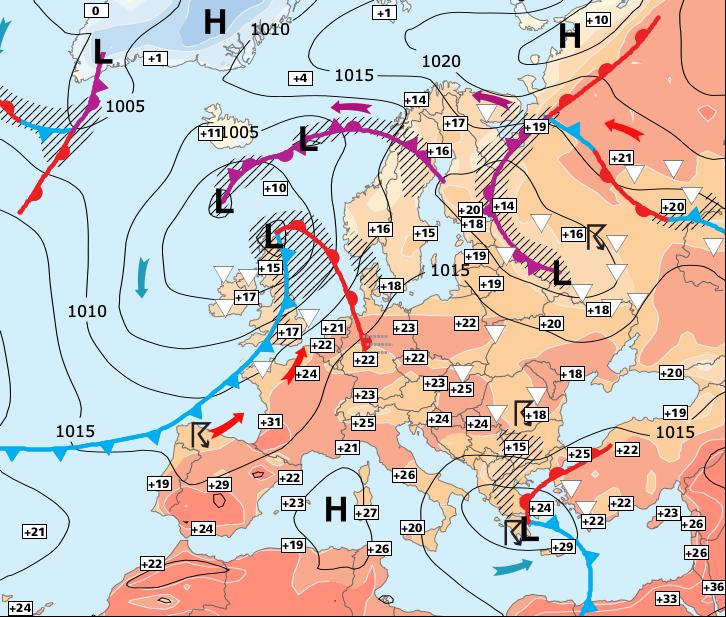 Image d'illustration pour Douche froide avant le retour des orages à partir de mercredi