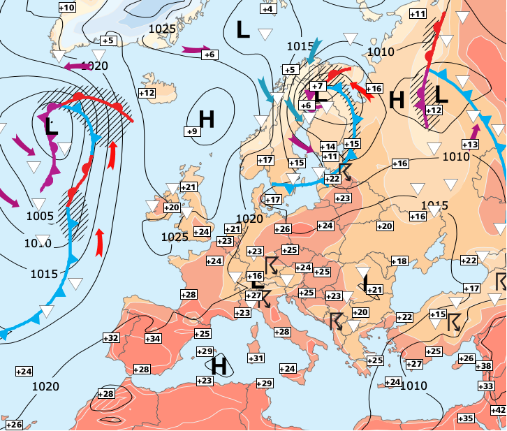 Image d'illustration pour Belle fin de semaine avant une météo perturbée pour l'Euro 2016
