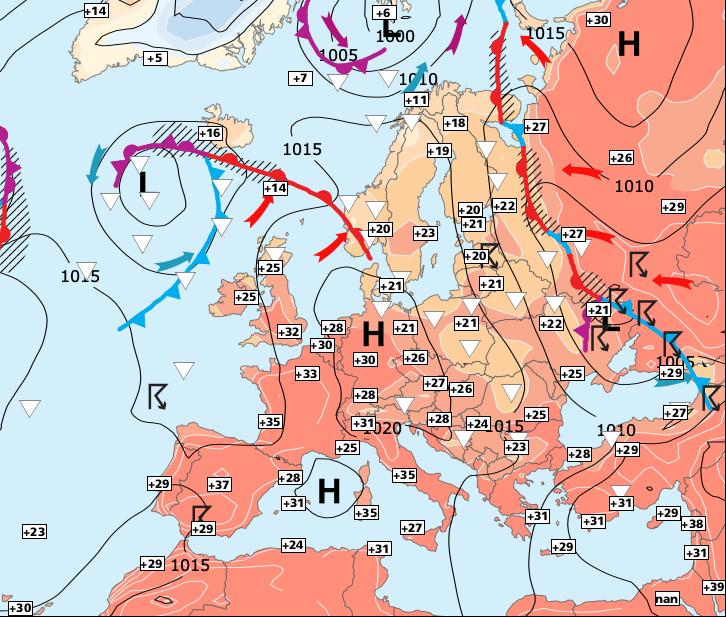 Image d'illustration pour La chaleur torride se décale vers l'est
