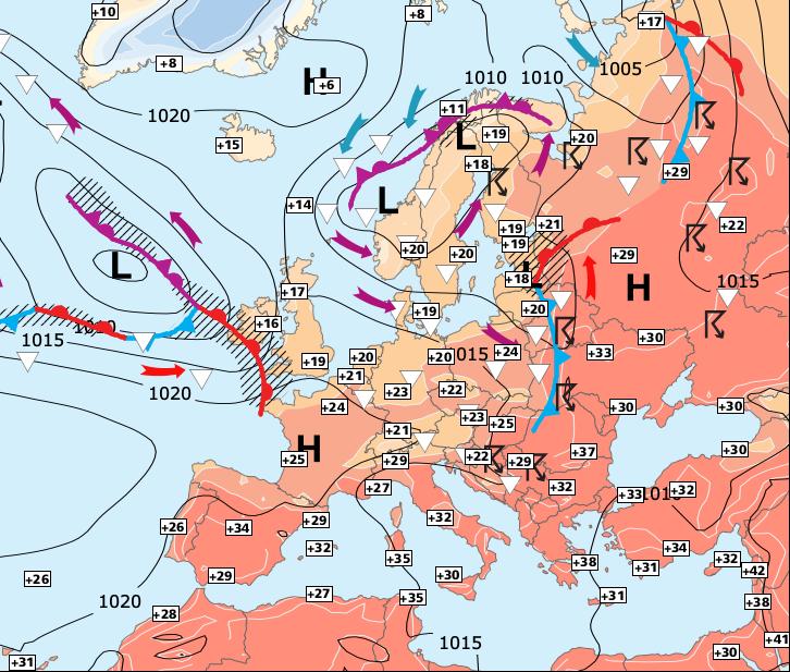 Image d'illustration pour Pluie au Nord, soleil et chaleur au Sud...