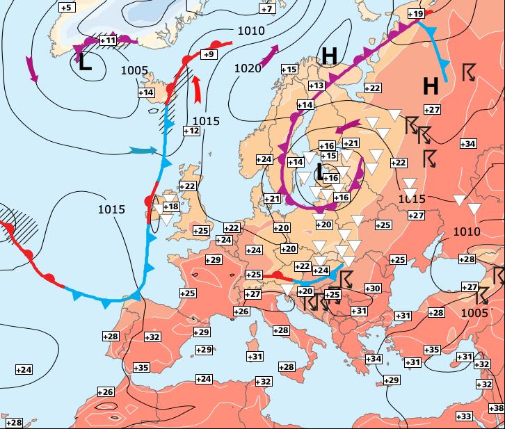 Image d'illustration pour Temporairement moins chaud, et orageux dans le Nord-est