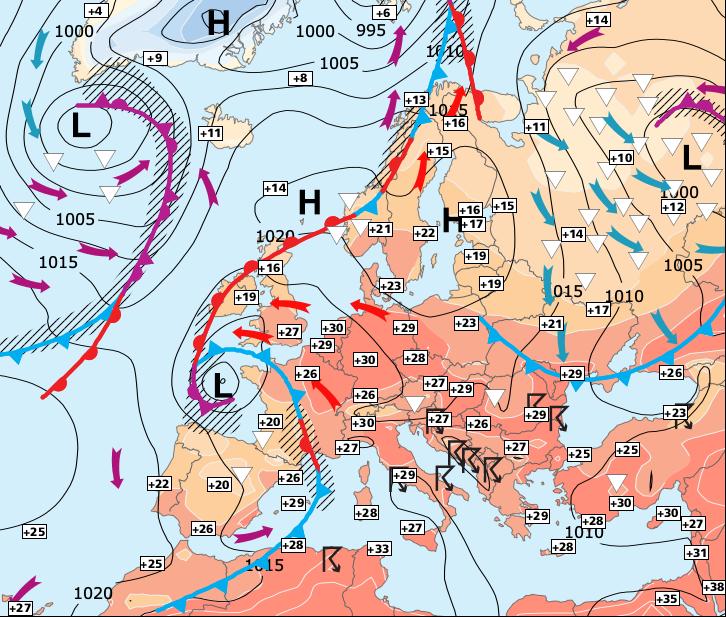 Image d'illustration pour Fin de la chaleur dans le Nord et des fortes pluies dans le Sud
