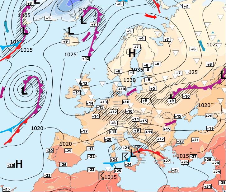 Image d'illustration pour Fortes pluies sur la moitié Sud en 2eme partie de semaine