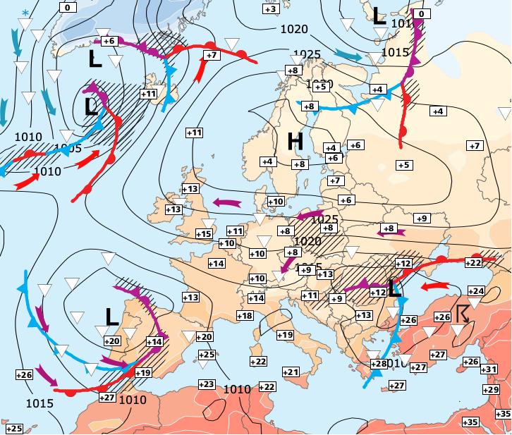 Image d'illustration pour Arrivée de la pluie par le sud et remontée des températures