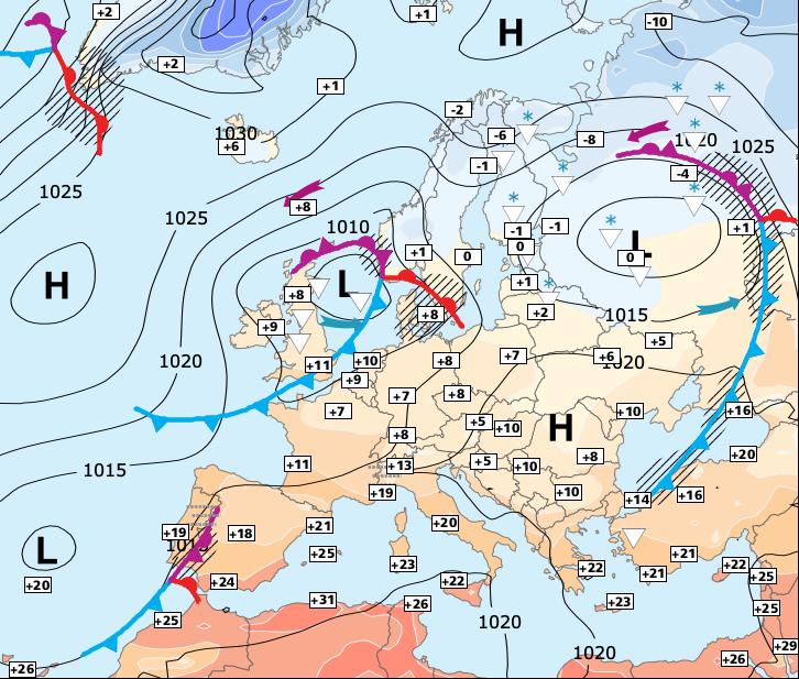 Image d'illustration pour Importante descente d'air froid scandinave