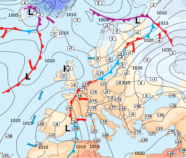 Image d'illustration pour Nouvelle vague orageuse au Sud - plus calme au nord