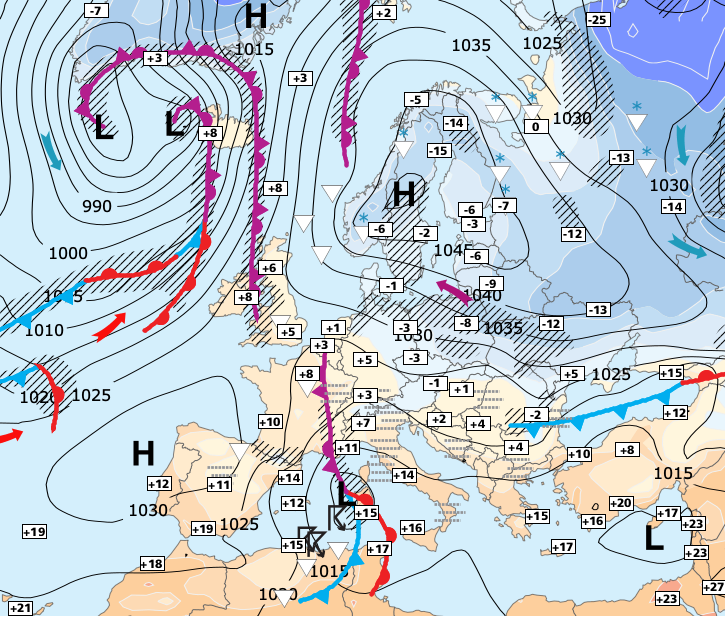 Image d'illustration pour Un froid temporaire et se cantonnant à la moitié Nord