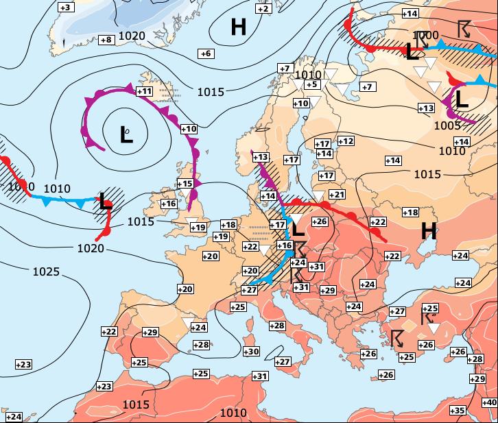 Image d'illustration pour Début de semaine très agité au Nord - retour de la chaleur jeudi