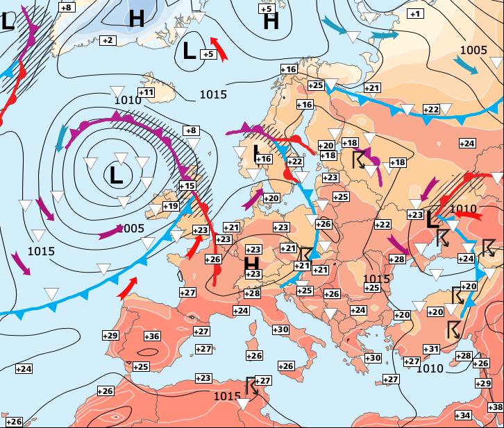 Image d'illustration pour Semaine très chaude au Sud, plus changeante au Nord
