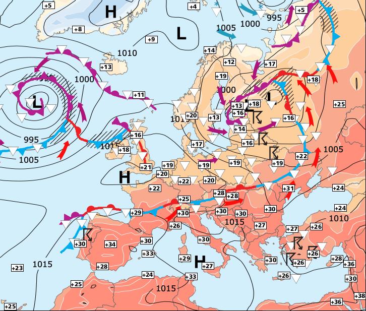 Image d'illustration pour La chaleur domine largement sur une grande moitié Sud