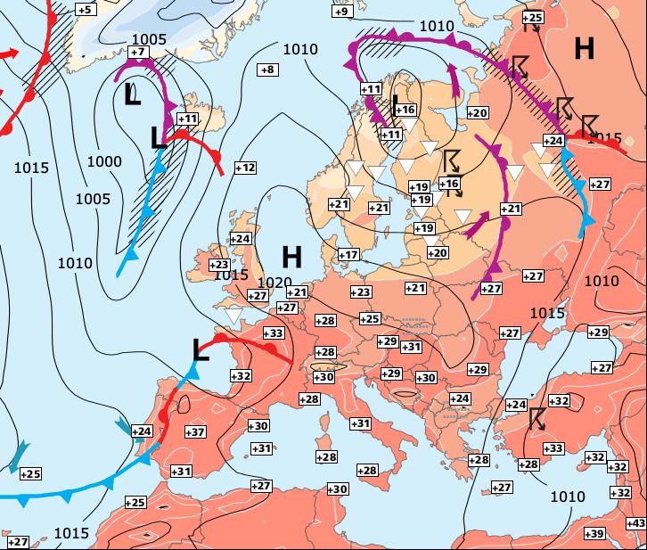 Image d'illustration pour Baisse des températures à l'Ouest