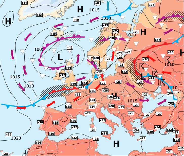 Image d'illustration pour Forts orages entre les Pyrénées et les régiond de l'Est