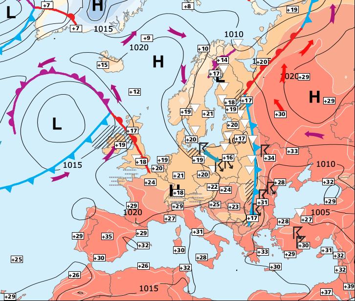 Image d'illustration pour Pic de chaleur entre mardi et mercredi, avant quelques orages