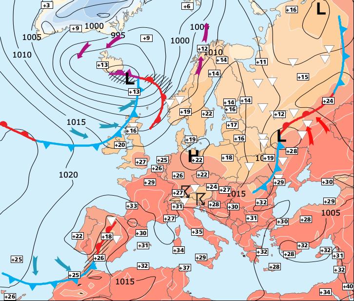 Image d'illustration pour Fin de la vague de chaleur programmée entre mercrdi et jeudi