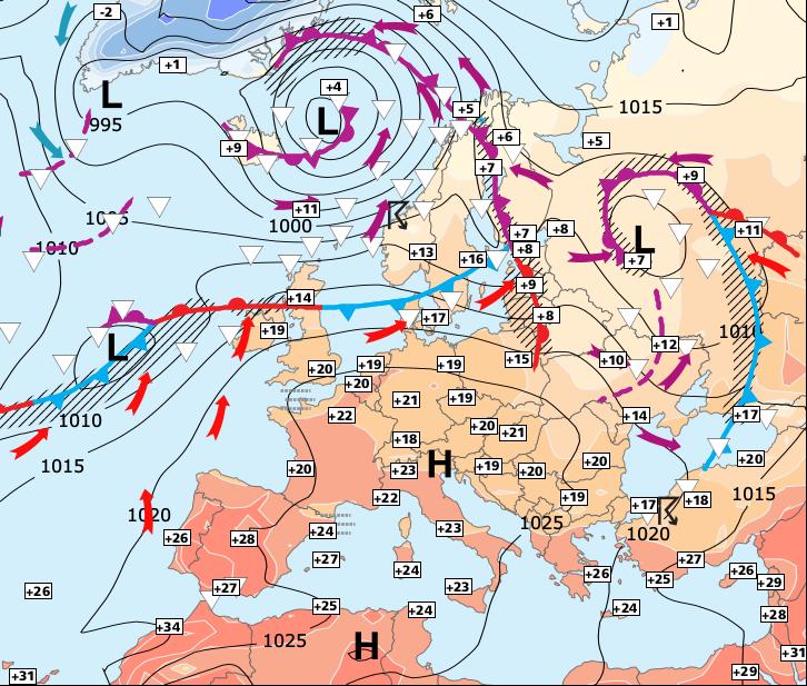 Image d'illustration pour Chaleur exceptionnelle et cyclone Ophelia