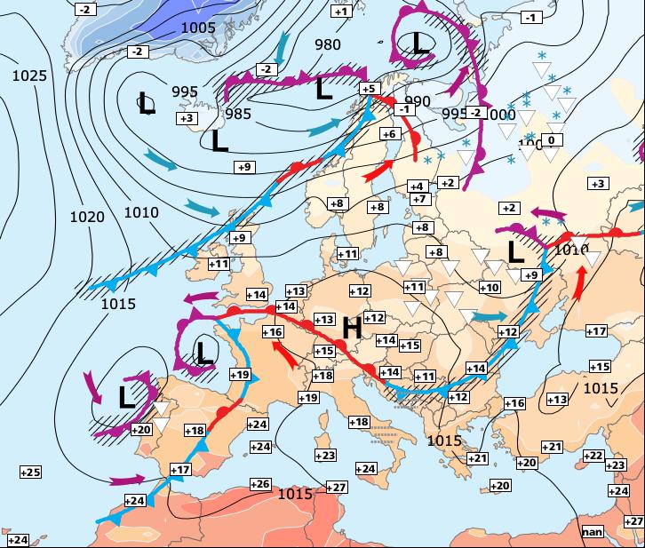Image d'illustration pour Fortes pluies dans le Sud-est et rafraîchissement généralisé