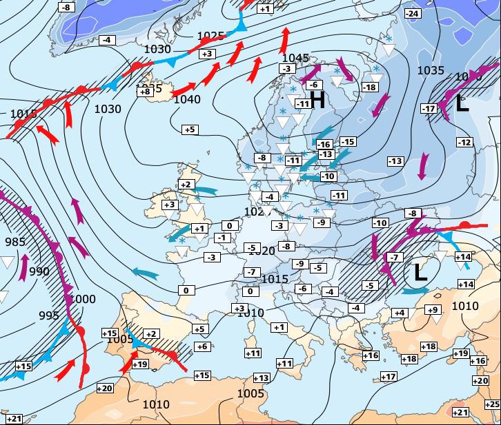 Image d'illustration pour Début de retrait de l'air froid vers le Nord