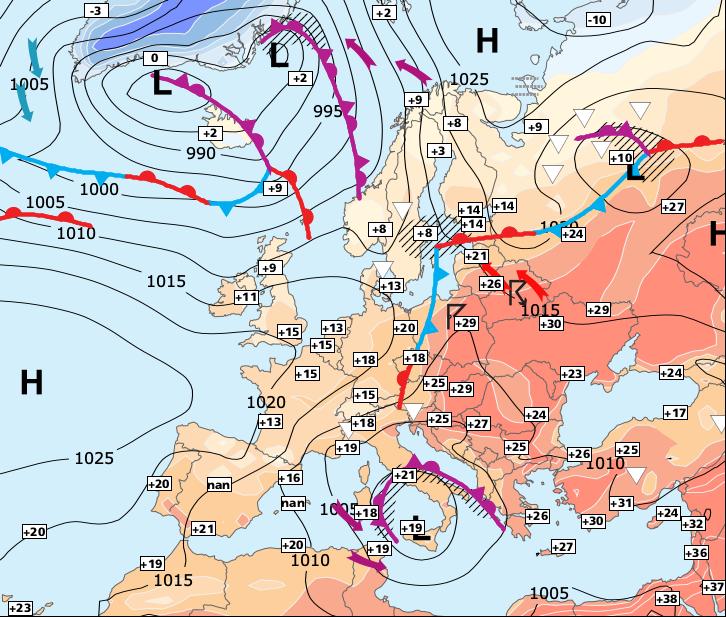 Image d'illustration pour Un week-end ensoleilé et chaud au Nord, orageux au Sud