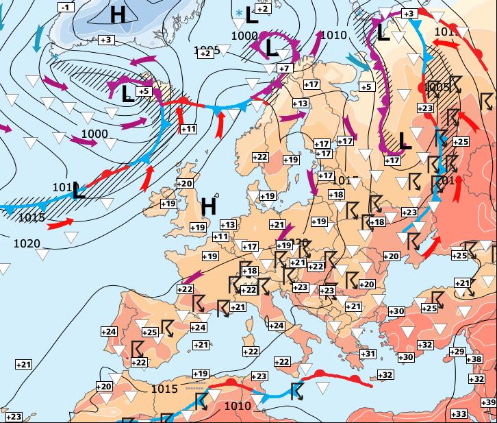 Image d'illustration pour Nouveau risque d'orages à partir de lundi