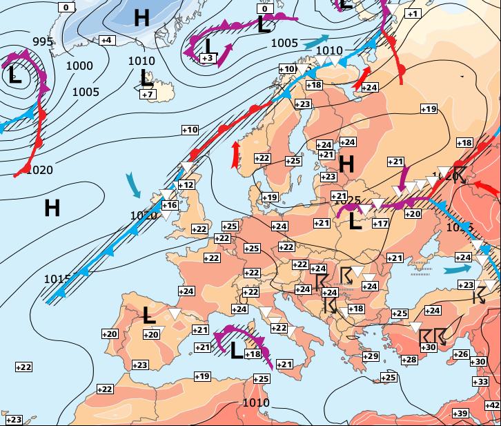 Image d'illustration pour Généralisation progressive de la chaleur et des orages