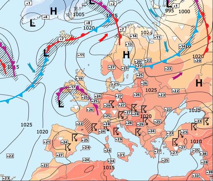 Image d'illustration pour Progressivement moins chaud mais de fréquents orages...