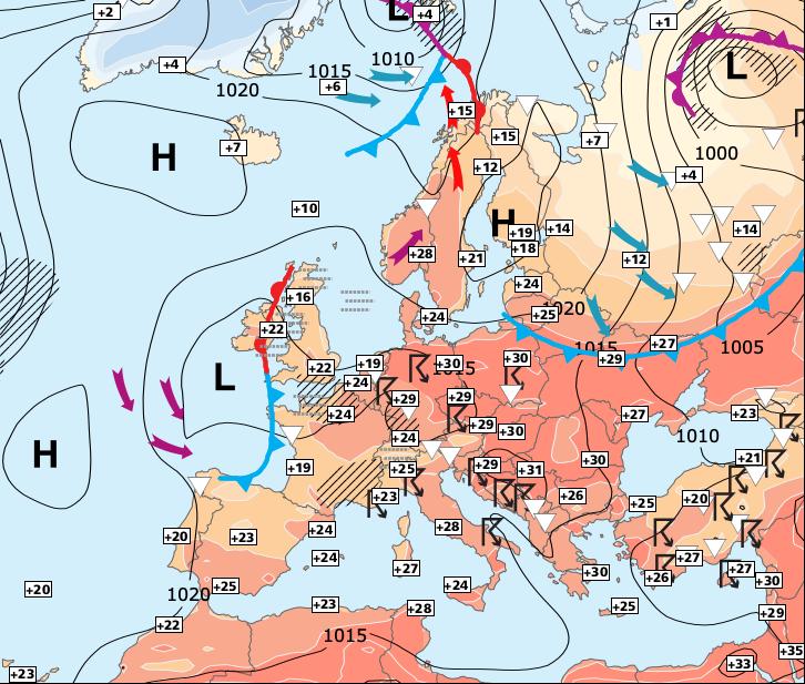 Image d'illustration pour Week-end temporairement moins orageux au Nord de la Loire