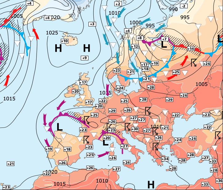 Image d'illustration pour Persistance du risque d'orages jusqu'à dimanche