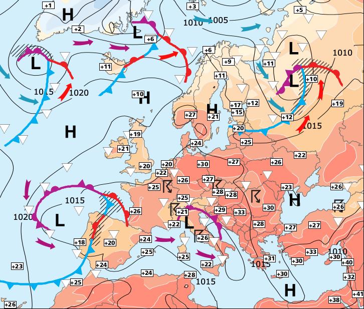 Image d'illustration pour Chaleur plus forte dans l'Est et retour des orages dans l'Ouest