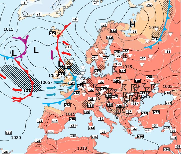 Image d'illustration pour Persistance de la chaleur au Sud et à l'Est