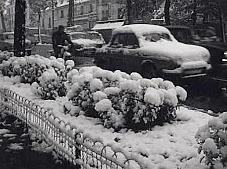 Image d'illustration pour La neige recouvre une partie de la France début novembre 1966