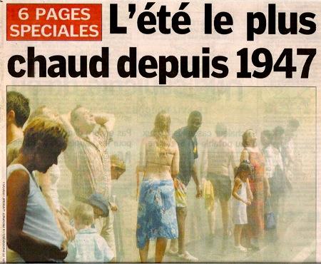 Chaleur Paris août 2003