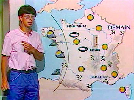 Eté 1983 - présentation météo sur TF1 par Denis Vincenti