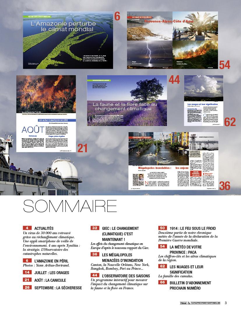 Image d'illustration pour Sortie du N°2 de la revue Climat & Catastrophes Naturelles