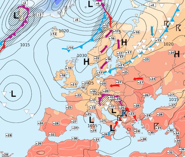 Image d'illustration pour Semaine prochaine chaude et de plus en plus orageuse
