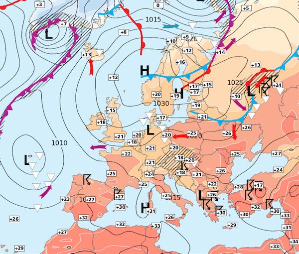 Image d'illustration pour Une semaine de plus de plus chaude avec quelques orages