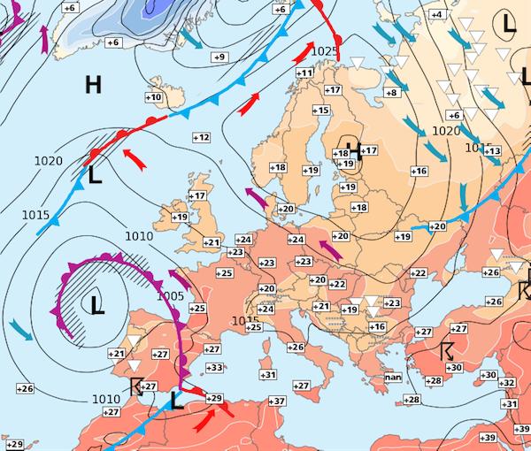 Image d'illustration pour Retour des orages et persistance de la chaleur