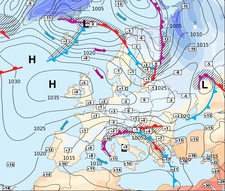 Image d'illustration pour L'anticyclone revient et le froid diminue un peu