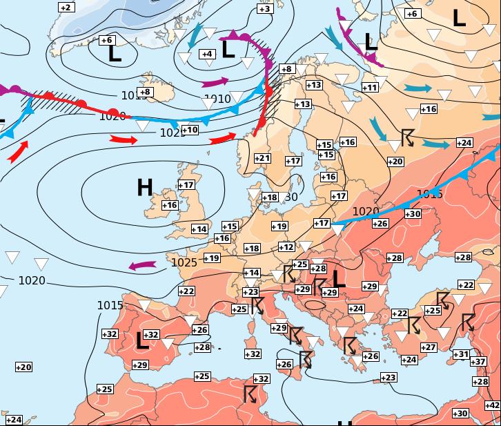 Image d'illustration pour Retour généralisé de la chaleur pour jeudi, puis des orages