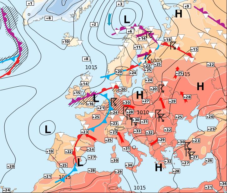 Image d'illustration pour Toujours des orages au sud et un temps plus stable au nord