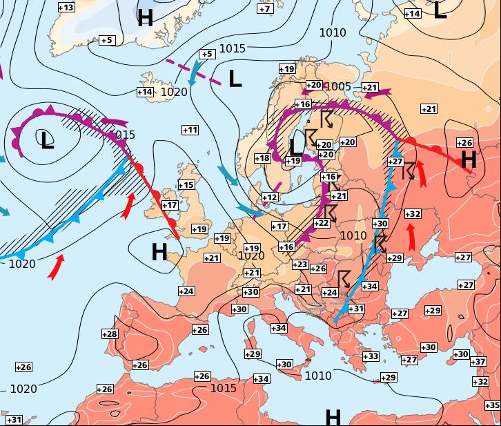 Image d'illustration pour Vers un temps plus estival au Sud qu'au Nord
