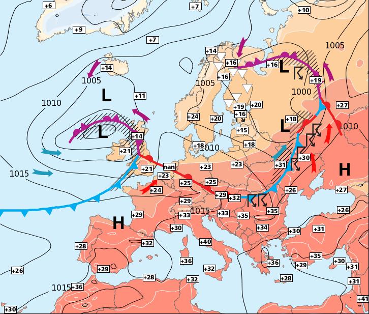 Image d'illustration pour Nouvelle hausse temporaire des températures
