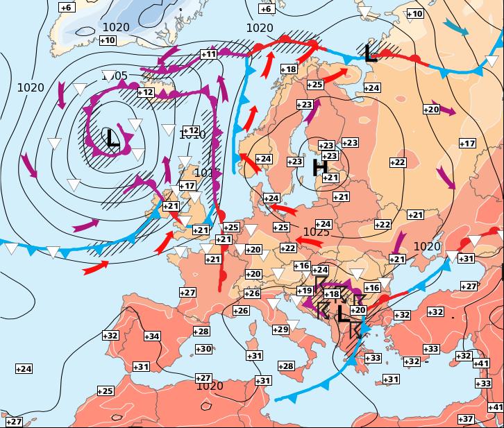 Image d'illustration pour Fortes chaleurs avant une vague orageuse pour dimanche