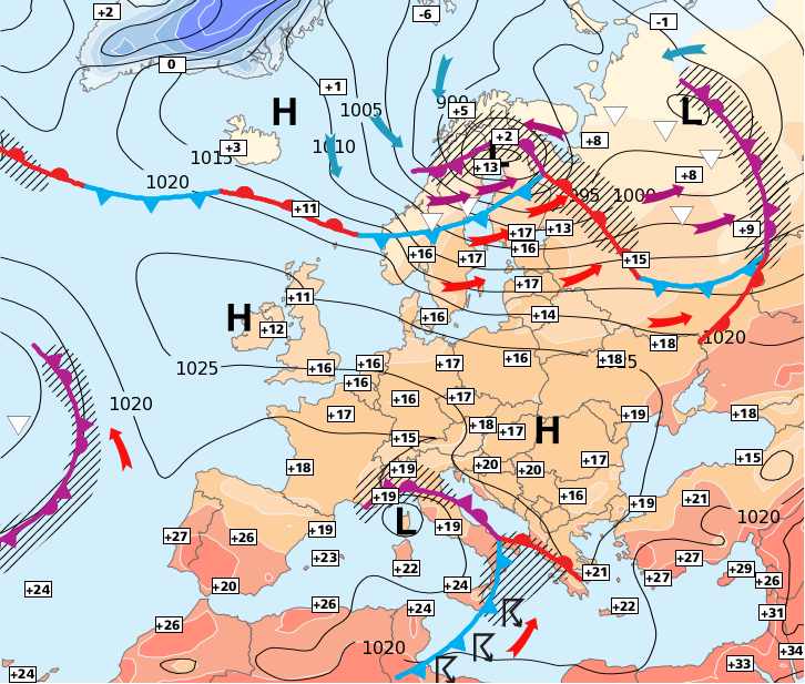 Image d'illustration pour Fortes pluies au sud et un peu moins ensoleillé au nord