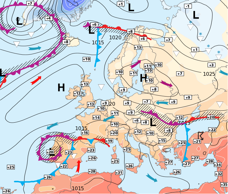 Image d'illustration pour Arrivée du froid par le nord de la France