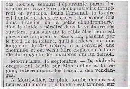 Photo de l'Almanach d'événement météo du 14/9/1911