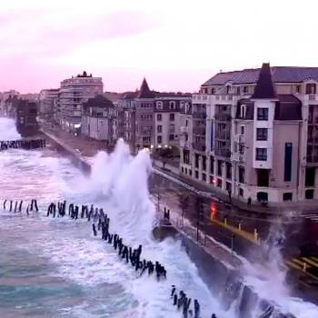 Tempête Roswitha : Submersion marine et fortes rafales de vent sur la Manche
